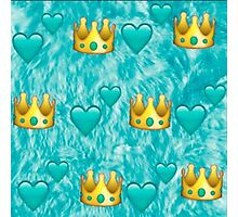 emoji crown pattern Photographic Print