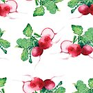 - Radish pattern (white) - by Losenko  Mila