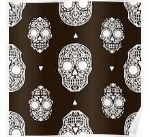 - Scull pattern (black) - Poster