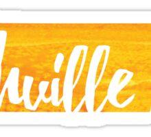 Nashville, Tennessee - yellow watercolor Sticker