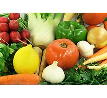 Vegetables, Fruits, Ingradients and Spices  Photographic Print