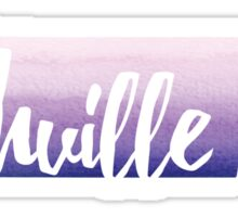 Nashville, Tennessee - purple watercolor Sticker