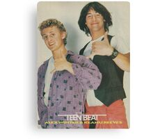 Bill and Ted Teen Beat cover Canvas Print