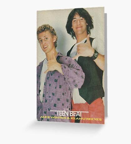 Bill and Ted Teen Beat cover Greeting Card