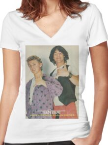 Bill and Ted Teen Beat cover Women's Fitted V-Neck T-Shirt