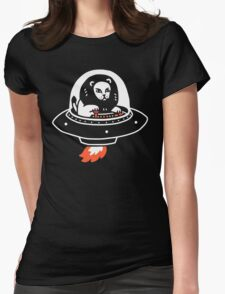 Alion Spaceship Womens Fitted T-Shirt
