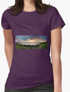 Sandringham yacht club sunset Womens Fitted T-Shirt