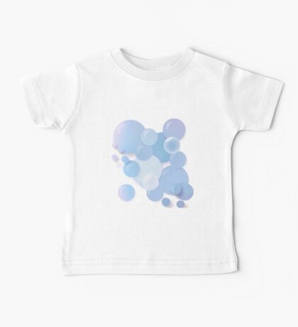 Soft floating blue bubbles Baby Tee