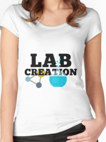 Lab Creation Science Themed Women's Fitted Scoop T-Shirt
