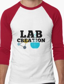 Lab Creation Science Themed Men's Baseball ¾ T-Shirt