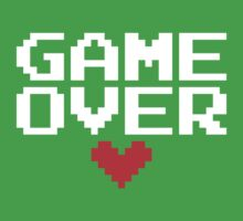 [Black] Game Over My Love Baby Tee