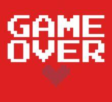 [Black] Game Over My Love Kids Tee