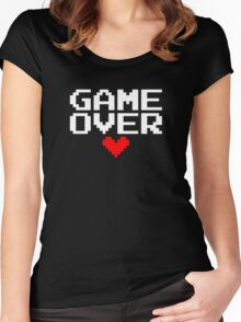[Black] Game Over My Love Women's Fitted Scoop T-Shirt