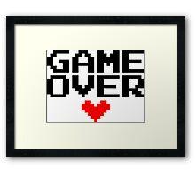 [White] Game Over My Love Framed Print