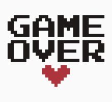 [White] Game Over My Love Kids Tee