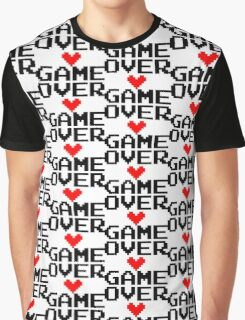 [White] Game Over My Love Graphic T-Shirt