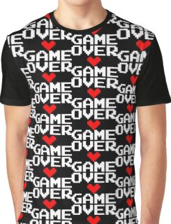 [Black] Game Over My Love Graphic T-Shirt
