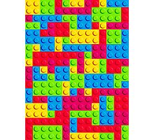 Lego Repeating Tile Pattern Photographic Print