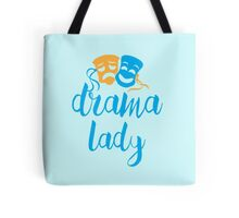 drama lady with happy sad masks Tote Bag