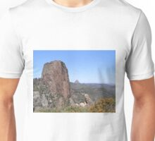 View from the High Tops, (2) Warrumbungle Nat. Park. N.S.W. Unisex T-Shirt