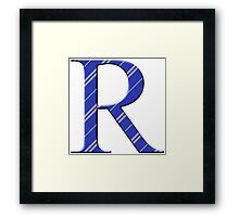 R for Ravenclaw Framed Print