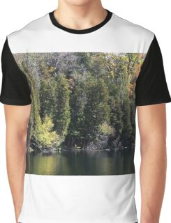 Light, Forest, Autumn and Lake. Graphic T-Shirt