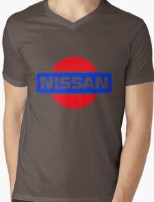 Old Nissan Logo Mens V-Neck T-Shirt