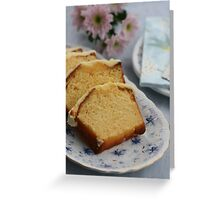 Moist Orange Cake   Greeting Card