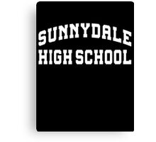 Sunnydale highschool - white Canvas Print