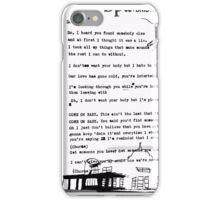 Somebody Else, The 1975 iPhone Case/Skin