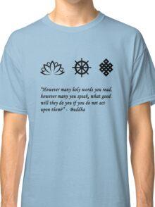 Lotus Flower, Dharma Wheel, and Endless Knot Classic T-Shirt
