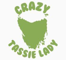 Crazy Tassie Lady Baby Tee