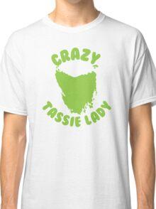 Crazy Tassie Lady Classic T-Shirt