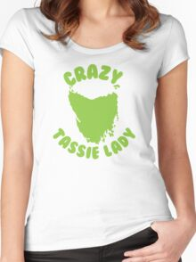 Crazy Tassie Lady Women's Fitted Scoop T-Shirt