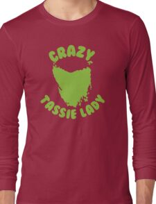 Crazy Tassie Lady Long Sleeve T-Shirt