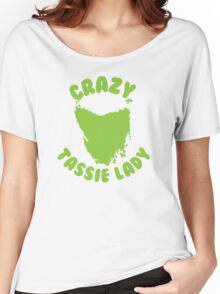 Crazy Tassie Lady Women's Relaxed Fit T-Shirt