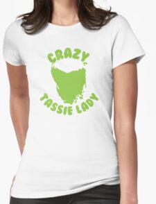Crazy Tassie Lady Womens Fitted T-Shirt