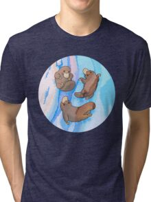 Platypus Puggle Pool Party Tri-blend T-Shirt