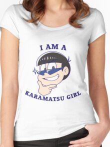 I Am A KARAMATSU GIRL VER. Women's Fitted Scoop T-Shirt
