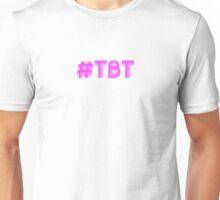 Pink #TBT Throwback Thursday Neon Sign Unisex T-Shirt