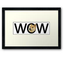WOW Doge Framed Print