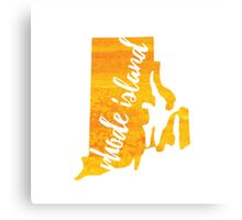Rhode Island - yellow watercolor Canvas Print