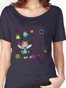 Garden Fairy Stop and Smell the Flowers Women's Relaxed Fit T-Shirt