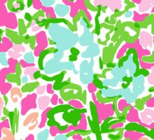 Lilly Pulitzer Inspired Mouse Ears - Flamingo Pink Southern Charm Sticker