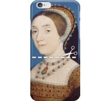 Cut Here - Catherine Howard iPhone Case/Skin