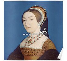Cut Here - Catherine Howard Poster