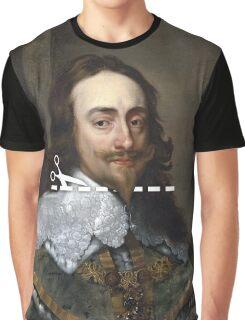 Cut Here - Charles I Graphic T-Shirt
