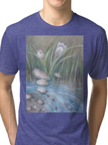 flowers in the creek Tri-blend T-Shirt