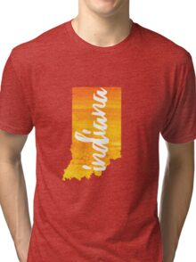 Indiana - yellow watercolor Tri-blend T-Shirt