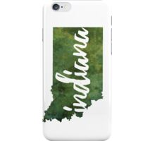 Indiana - green watercolor iPhone Case/Skin